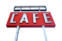 Cafe sign along historic Route 66 in Texas Royalty Free Stock Images