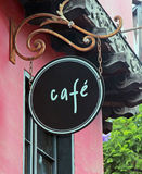 Cafe Sign Royalty Free Stock Images