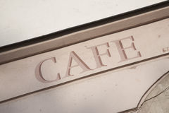 Cafe Sign Royalty Free Stock Image