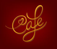 Cafe signboard. Cafe handwritten calligraphic vintage signboard Stock Image