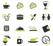 Cafe Silhouette Icons Stock Photo