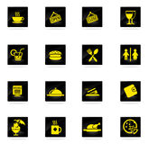 Cafe simply icons Royalty Free Stock Photo