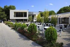 Cafe on site of Porto Carras Meliton. Stock Photos