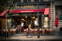Cafe. Small cafe restaurant in Paris Royalty Free Stock Photos