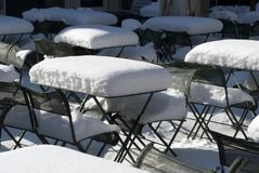 Cafe Snow stock photo