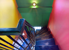 Cafe stairways Stock Photography