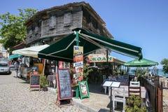 cafe stary uliczny miasta Obrazy Royalty Free