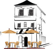 Cafe street Royalty Free Stock Photography