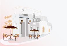 Cafe street Royalty Free Stock Image