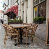 Cafe on street of european city Stock Images
