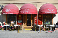 Cafe on the street of in Stockholm Royalty Free Stock Photography
