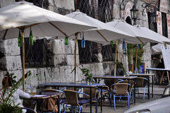 Cafe on the streets Stock Photography
