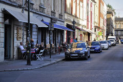 Cafe on the streets Royalty Free Stock Photo