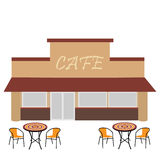 Cafe with summer terrace Stock Image