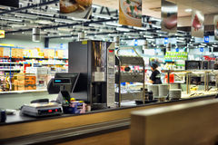 Cafe in the supermarket Stock Photos