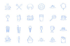 Cafe sweets icons Royalty Free Stock Images