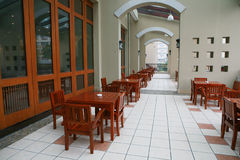 Cafe table and chair Royalty Free Stock Image