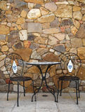 Cafe Table and Chairs Stock Images