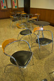Cafe table with chairs Royalty Free Stock Photography
