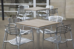 Cafe Table and Chairs Stock Photo