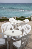 Cafe Table and Chairs, Formentera, Balearic Islands Stock Photography