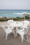 Cafe Table and Chairs, Formentera, Balearic Islands Royalty Free Stock Photo