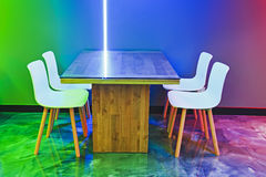 Cafe table 4 chairs Royalty Free Stock Photography