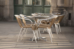 Cafe Table and Chairs Stock Photos