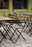 Cafe Table and Chairs Royalty Free Stock Images