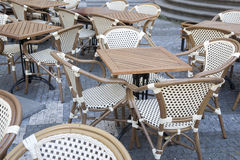 Cafe Table and Chairs Stare Mesto Neighborhood, Prague Royalty Free Stock Photography