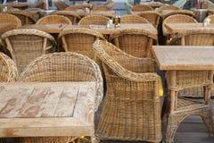 Cafe Table and Chairs Terrace; Stare Mesto Neighborhood; Prague Stock Photos