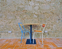 Cafe table and chairs Stock Image