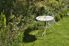 Cafe Table in the Garden Royalty Free Stock Image