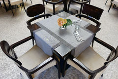 Cafe Table, Set For Customers Royalty Free Stock Photo