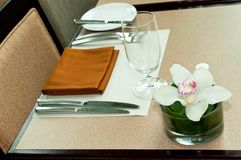 Cafe Table Setting Stock Images