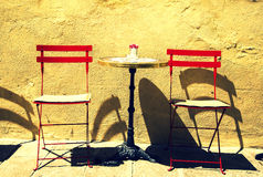 Cafe table on a street Royalty Free Stock Photos