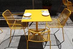 Cafe table Royalty Free Stock Images