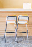 Cafe Tables and Chairs on Cobbled. Royalty Free Stock Photos