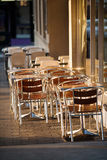 Cafe Tables and Chairs Royalty Free Stock Photos