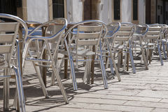 Cafe Tables and Chairs Royalty Free Stock Photo