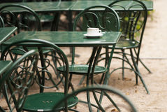 Cafe tables and chairs Royalty Free Stock Image