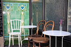 Cafe tables and chairs. Stock Images
