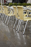 Cafe Tables and Chairs in San Marcos - St Marks Square, Venice Royalty Free Stock Photo