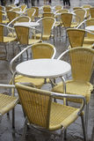 Cafe Tables and Chairs in San Marcos - St Marks Square, Venice Stock Photography