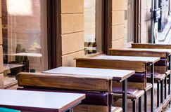 Cafe with tables Royalty Free Stock Images