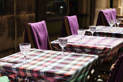 Cafe tables in the city Stock Photography