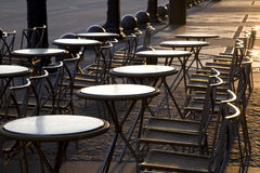 Cafe Tables, Paris, France. European Travel Image and Lifestyle Concept Image Stock Images