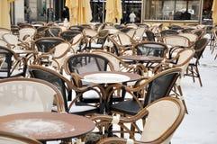 Cafe tables Stock Photos