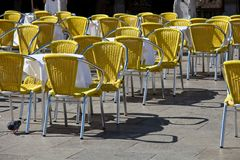 Cafe tables in Venice Royalty Free Stock Images