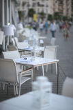 Cafe tables Royalty Free Stock Images